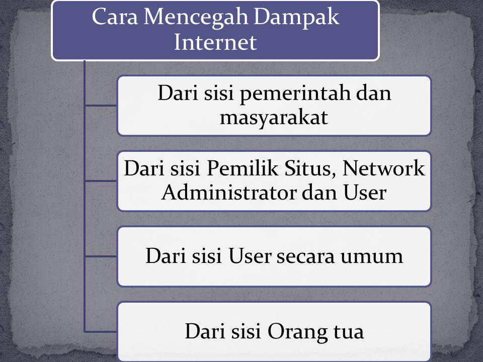Cara Mencegah Dampak Internet Dari sisi pemerintah dan masyarakat