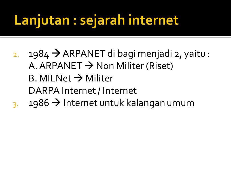 Lanjutan : sejarah internet