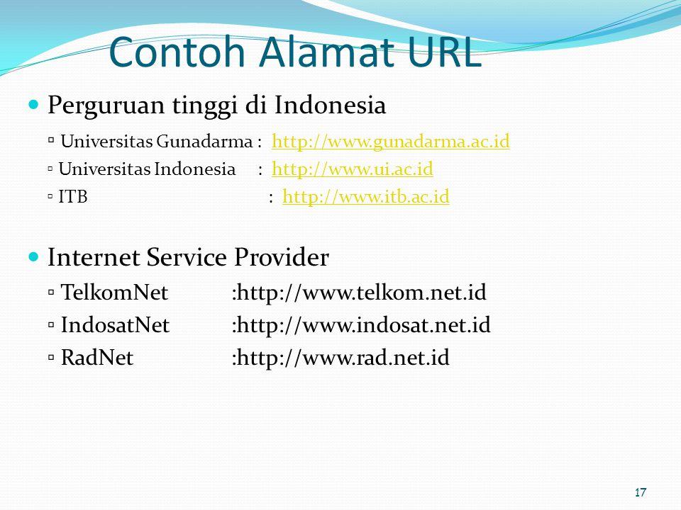 Contoh Alamat URL Perguruan tinggi di Indonesia