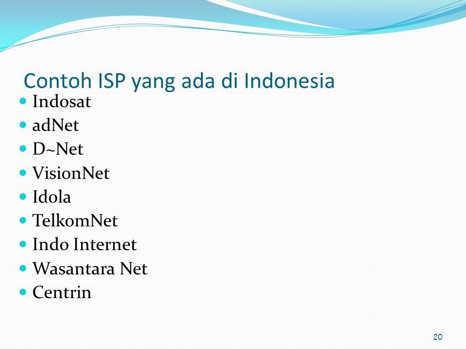 Contoh ISP yang ada di Indonesia