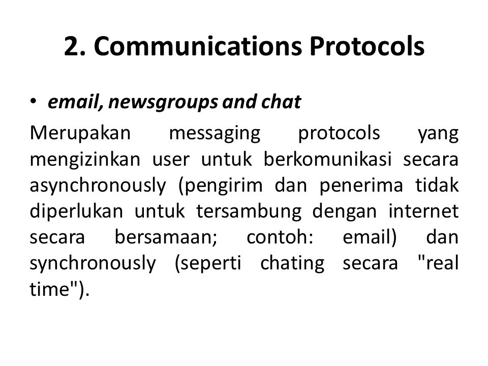 2. Communications Protocols