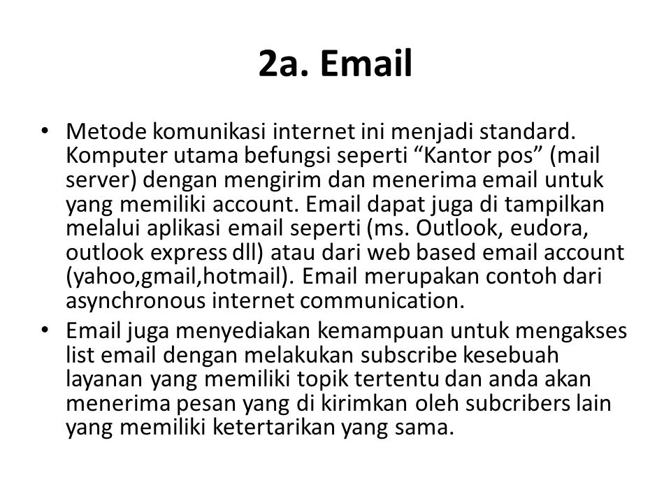 2a. Email