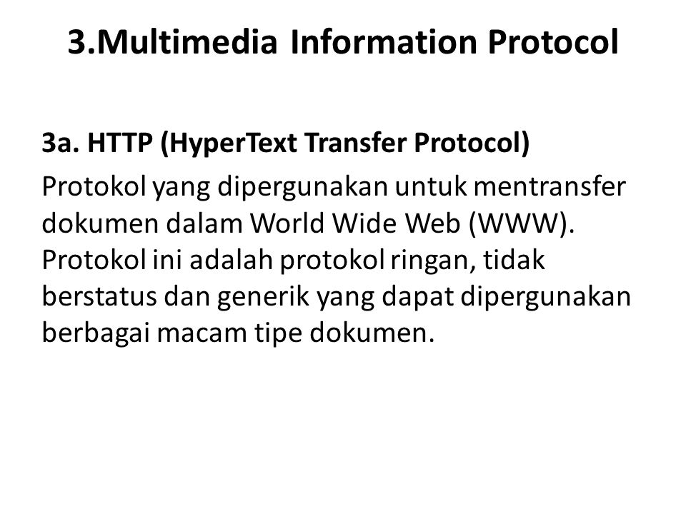 3.Multimedia Information Protocol