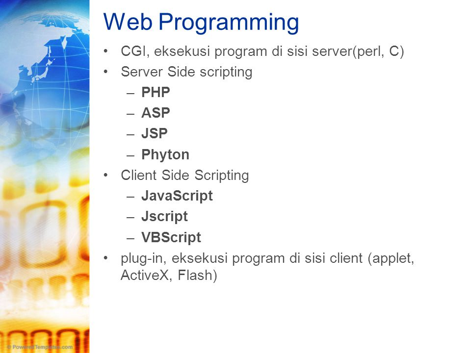 Web Programming CGI, eksekusi program di sisi server(perl, C)