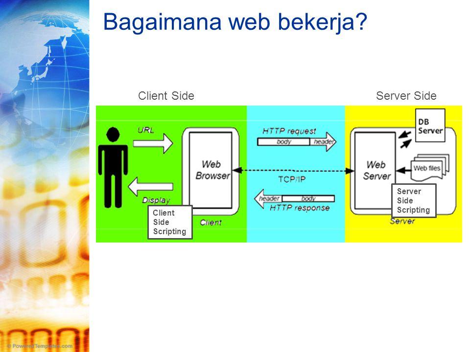Bagaimana web bekerja Client Side Server Side Server Side Scripting