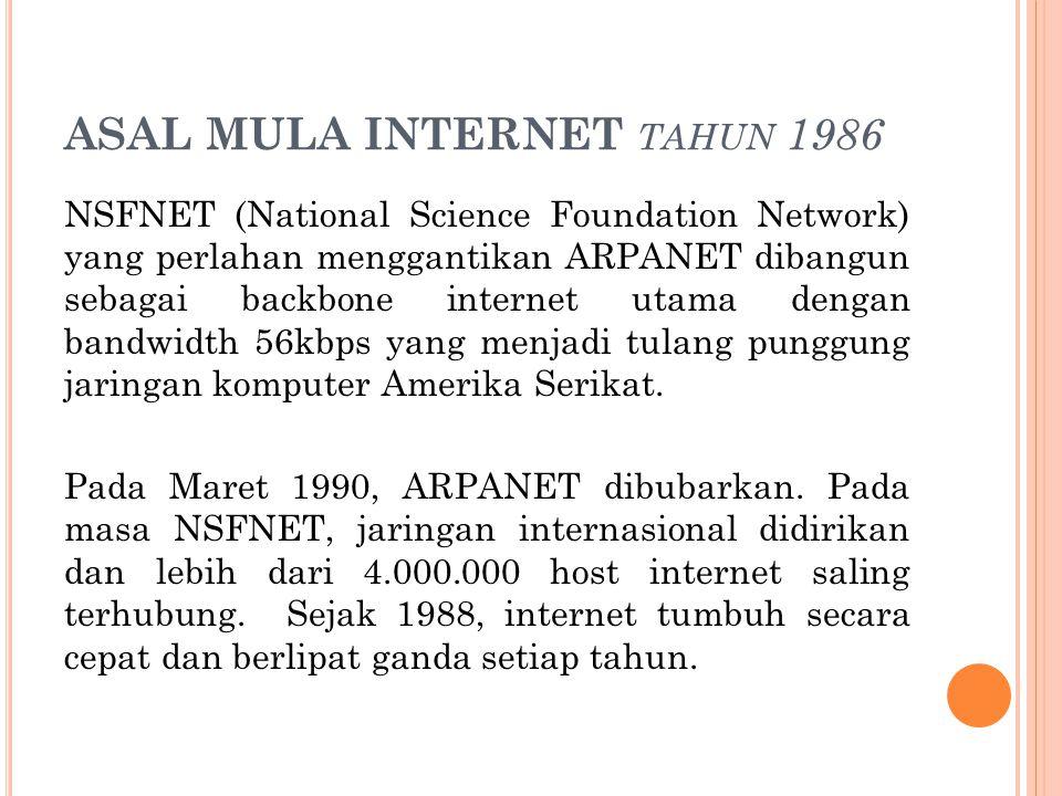 ASAL MULA INTERNET tahun 1986