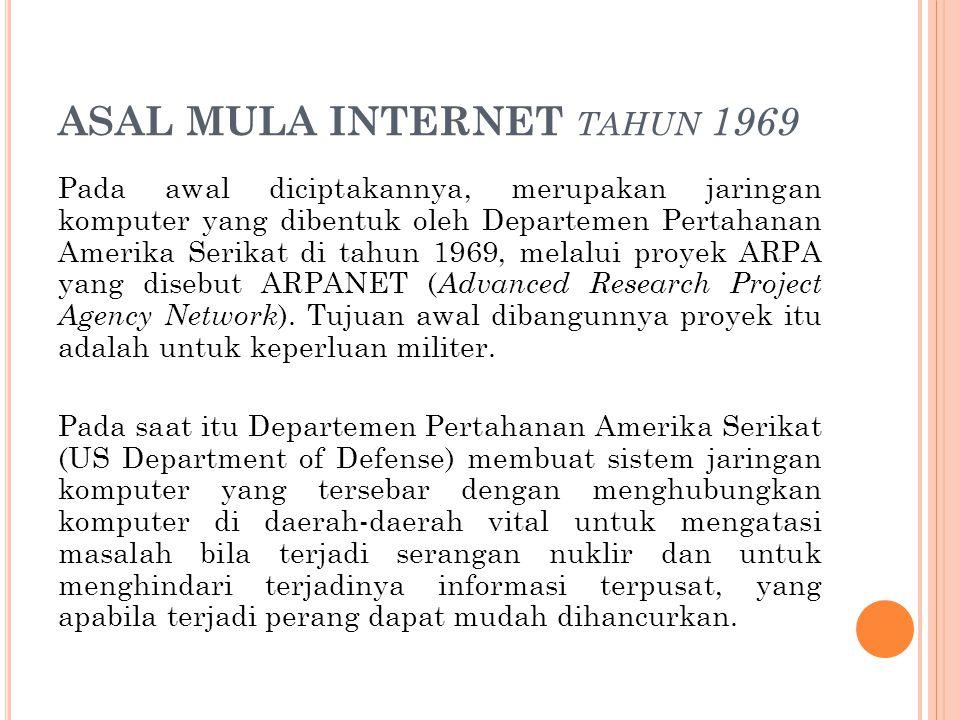 ASAL MULA INTERNET tahun 1969