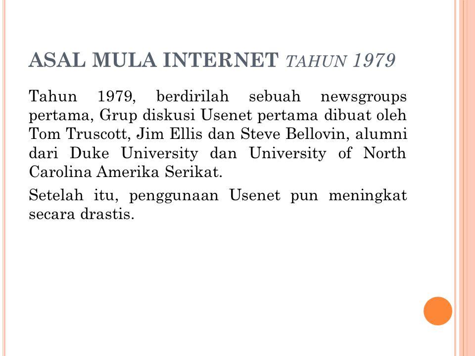 ASAL MULA INTERNET tahun 1979