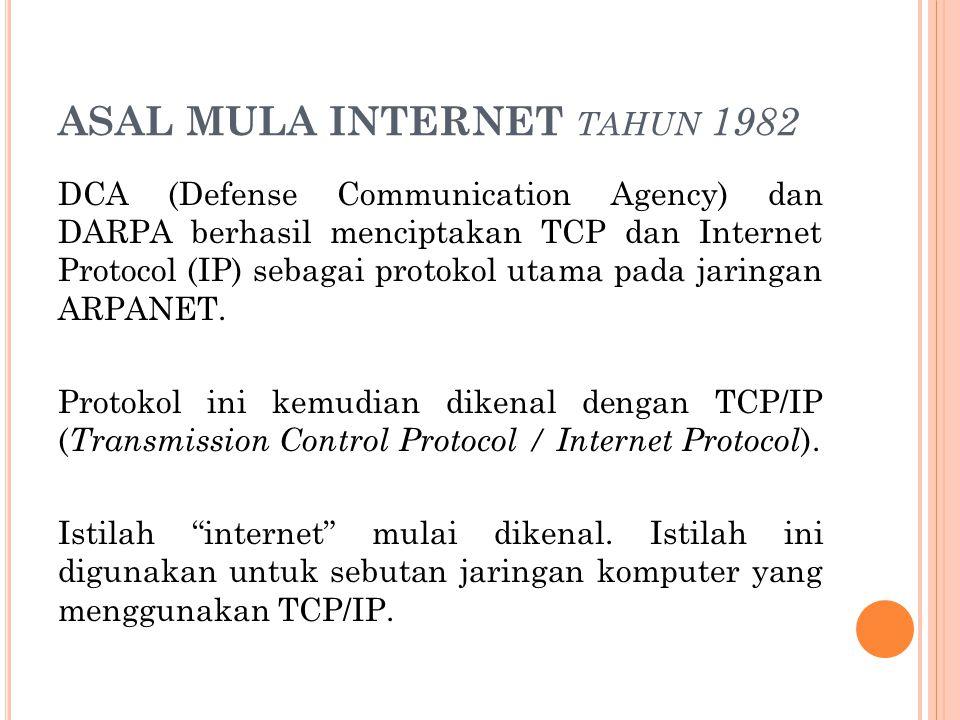 ASAL MULA INTERNET tahun 1982