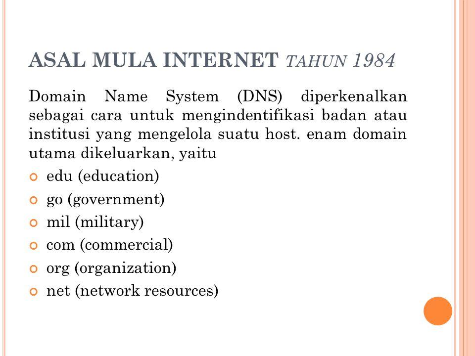 ASAL MULA INTERNET tahun 1984