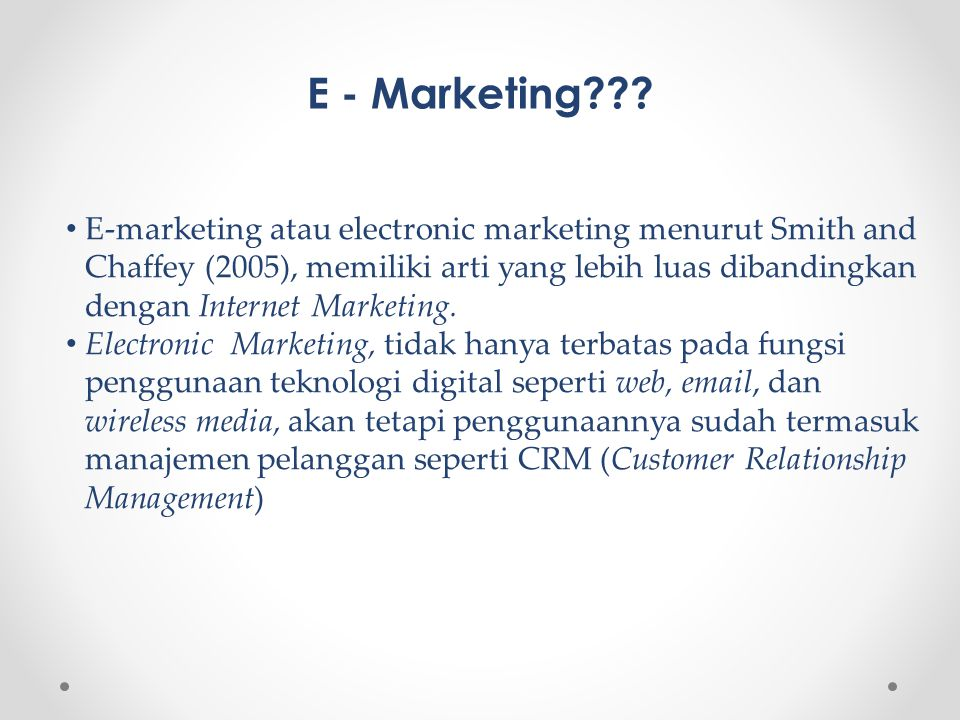 E - Marketing