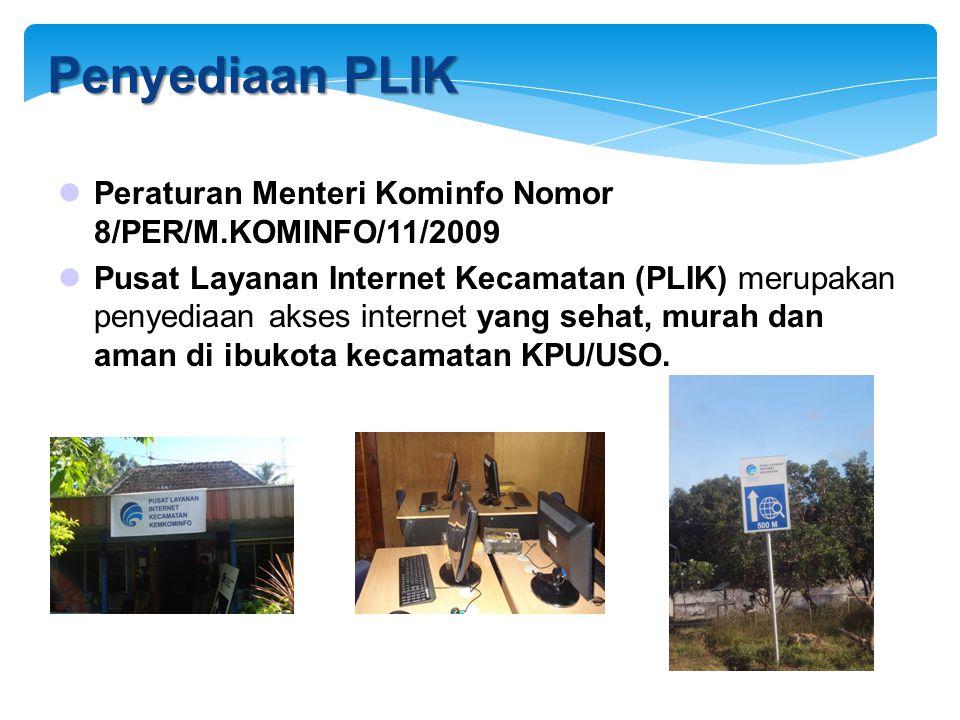 8/12/2009 Penyediaan PLIK. Peraturan Menteri Kominfo Nomor 8/PER/M.KOMINFO/11/2009.
