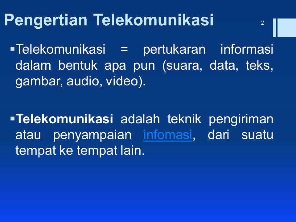 Pengertian Telekomunikasi