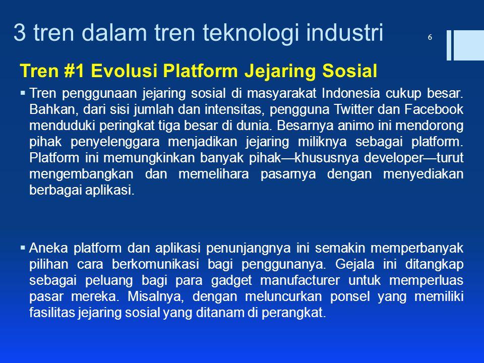 3 tren dalam tren teknologi industri