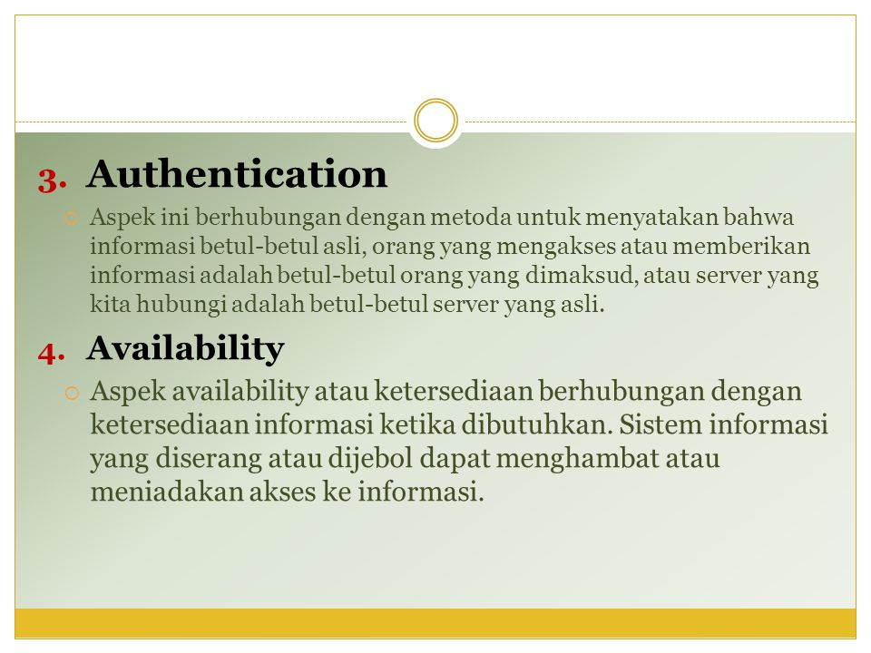 Authentication Availability