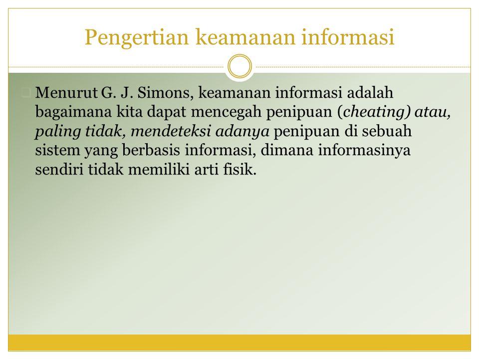 Pengertian keamanan informasi