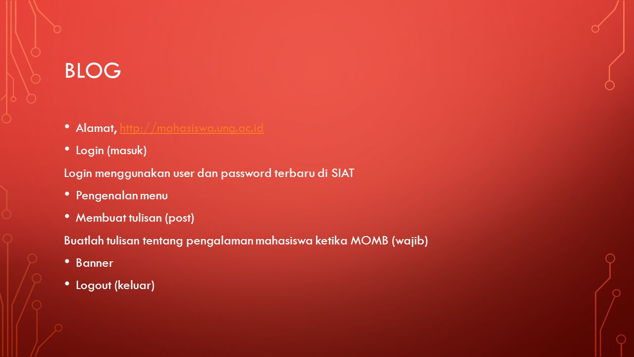 bLOG Alamat, http://mahasiswa.ung.ac.id Login (masuk)