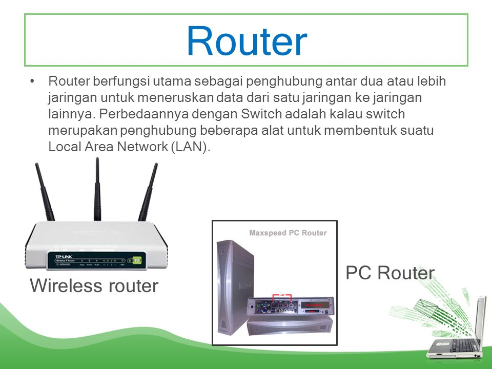 Router PC Router Wireless router