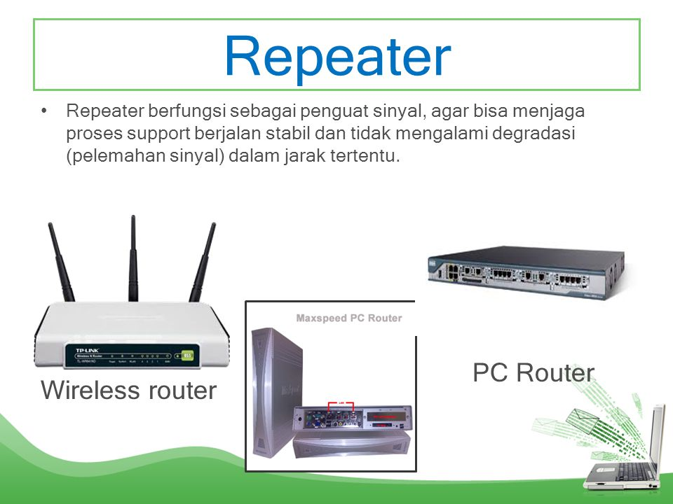 Repeater PC Router Wireless router