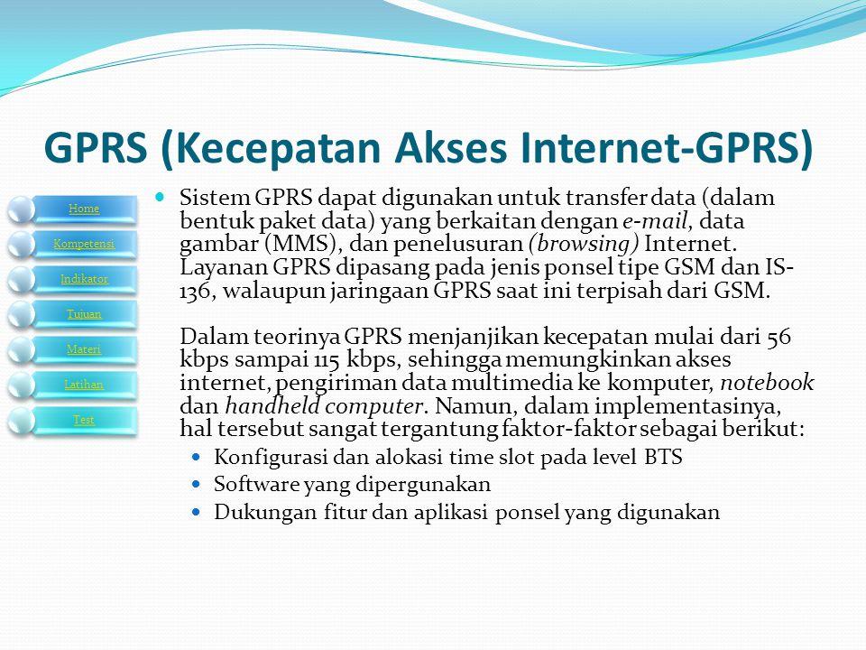 GPRS (Kecepatan Akses Internet-GPRS)