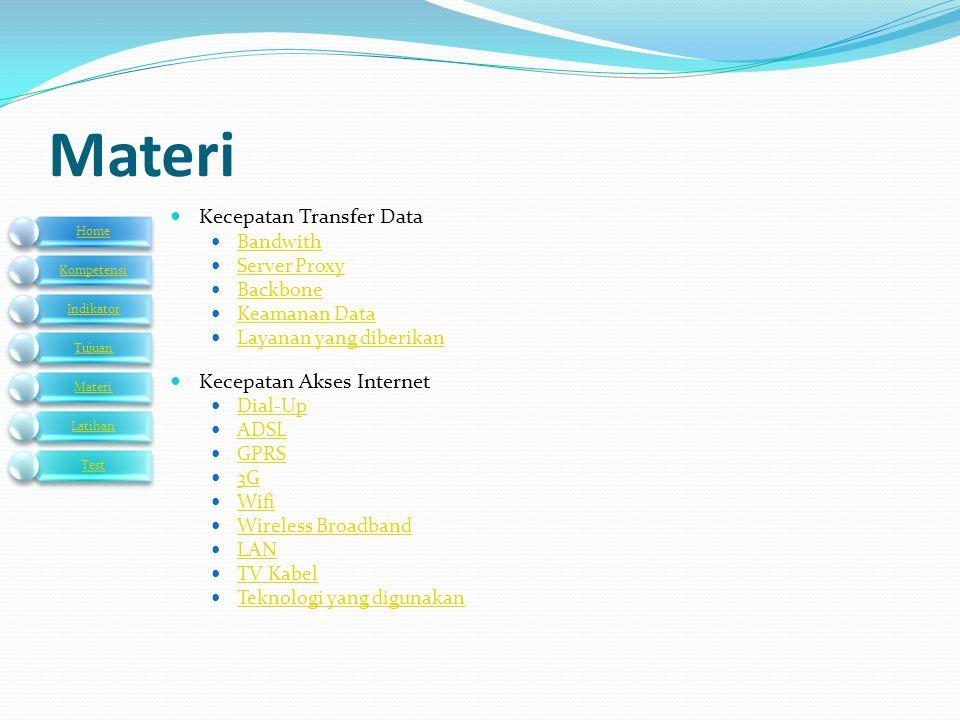 Materi Kecepatan Transfer Data Kecepatan Akses Internet Bandwith