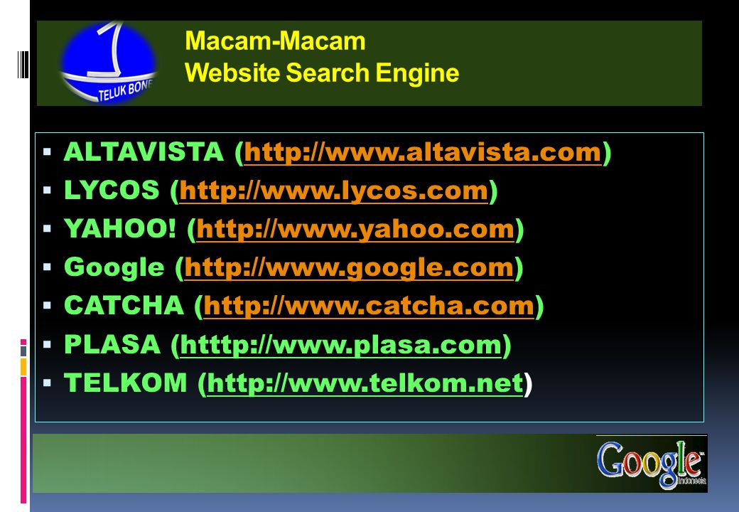 Macam-Macam Website Search Engine