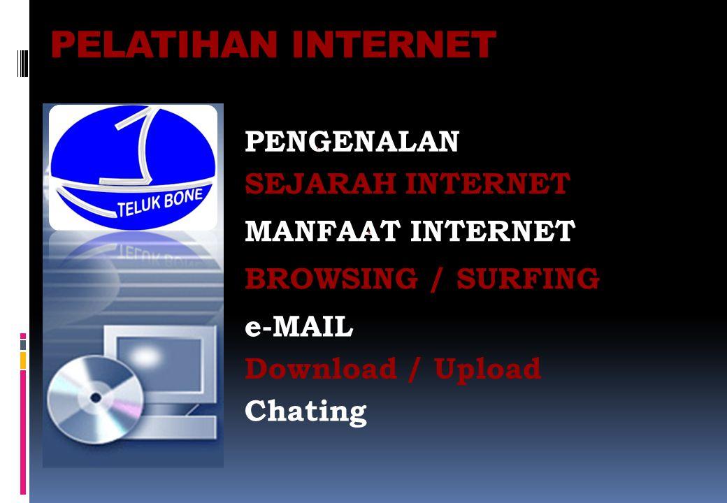 PELATIHAN INTERNET PENGENALAN SEJARAH INTERNET MANFAAT INTERNET