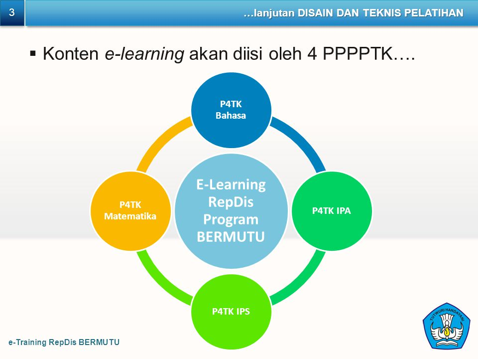 E-Learning RepDis Program BERMUTU
