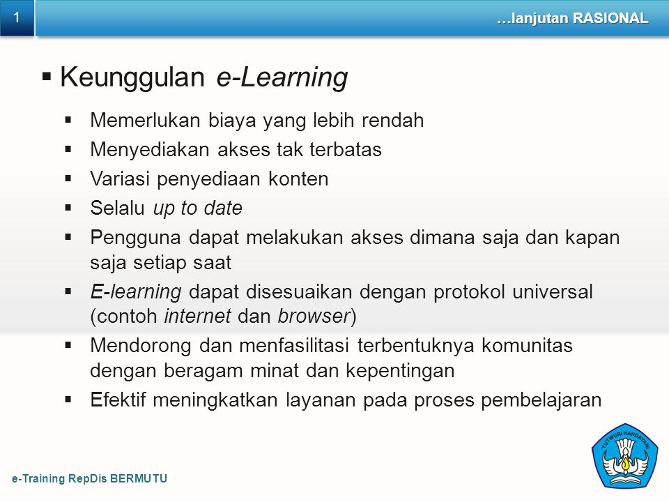 Keunggulan e-Learning