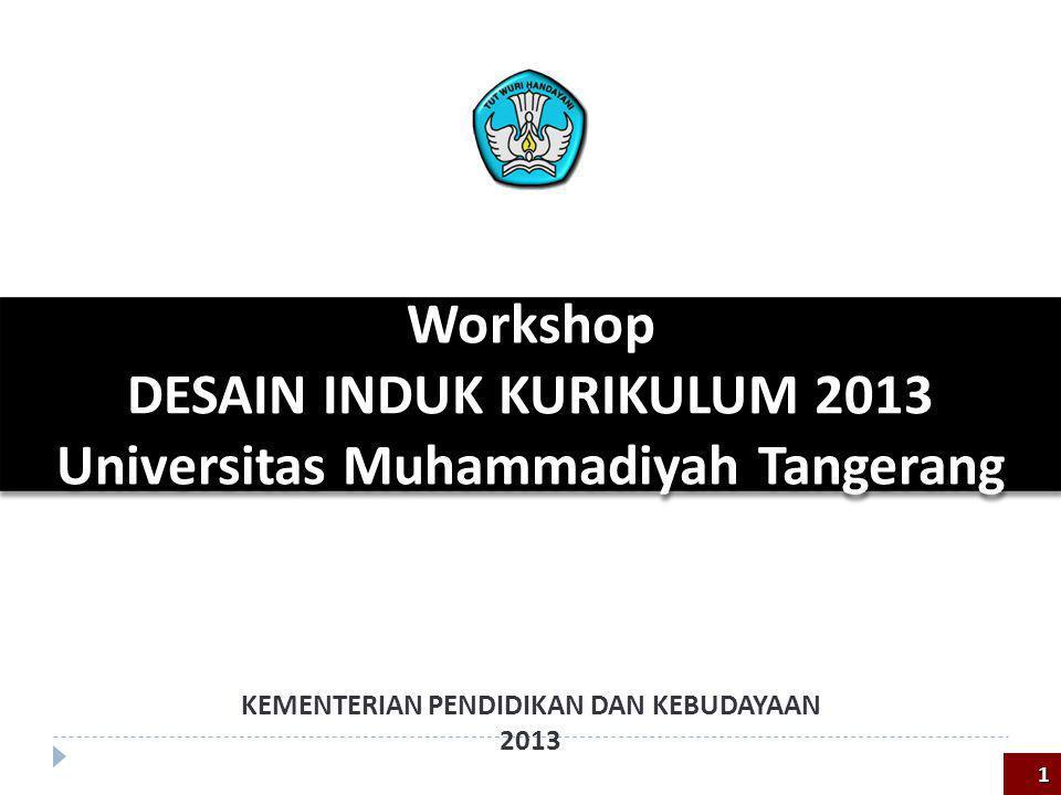 DESAIN INDUK KURIKULUM 2013 Universitas Muhammadiyah Tangerang