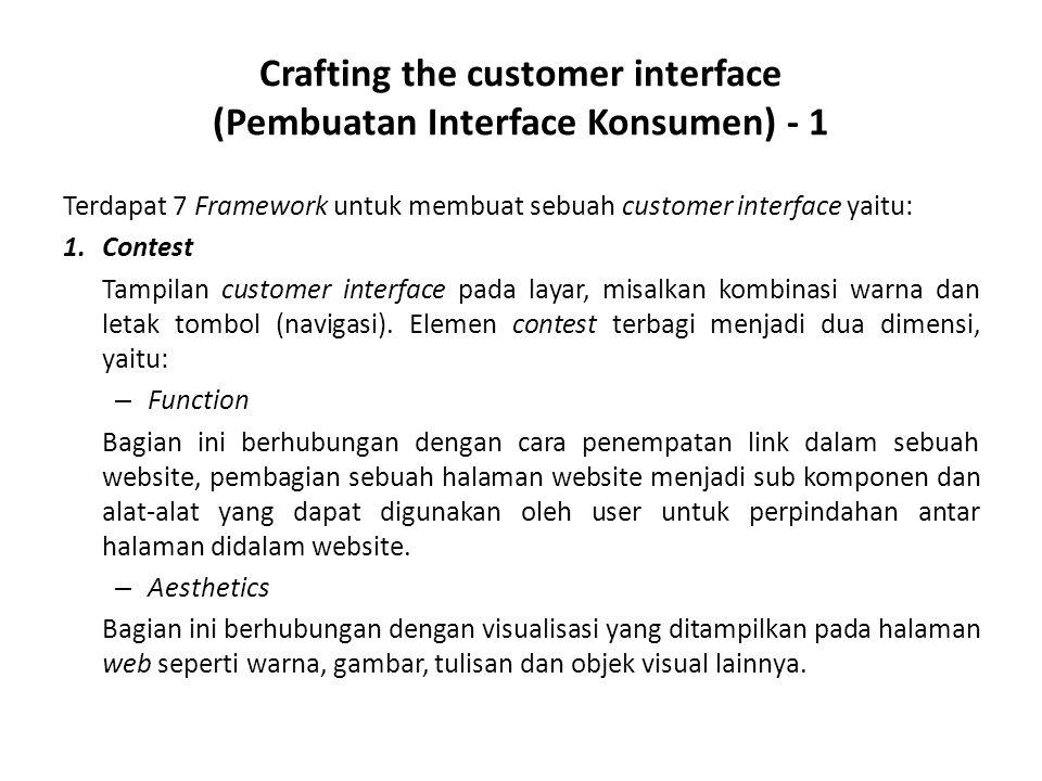 Crafting the customer interface (Pembuatan Interface Konsumen) - 1