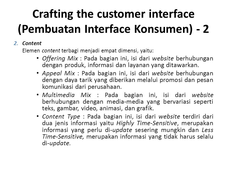 Crafting the customer interface (Pembuatan Interface Konsumen) - 2