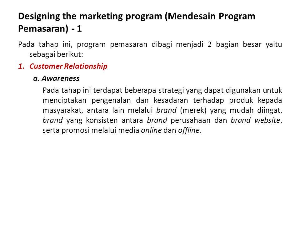 Designing the marketing program (Mendesain Program Pemasaran) - 1