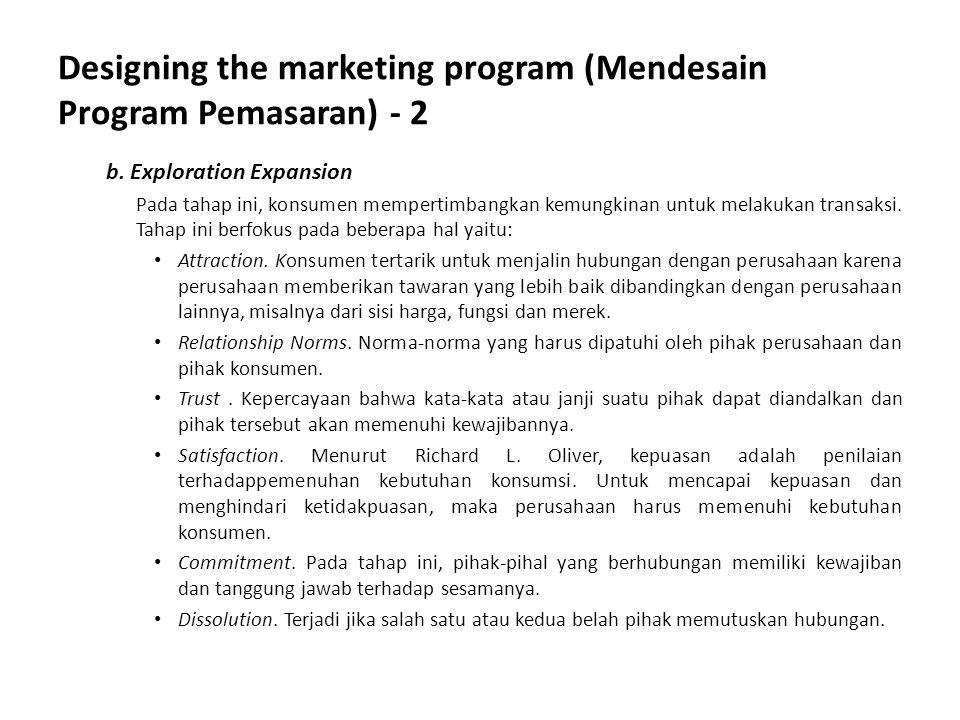 Designing the marketing program (Mendesain Program Pemasaran) - 2