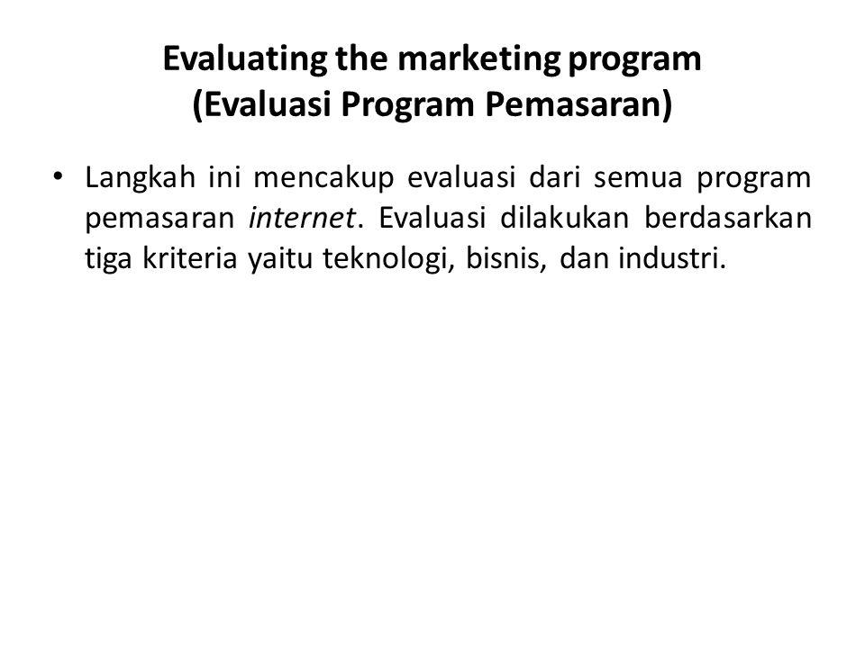 Evaluating the marketing program (Evaluasi Program Pemasaran)