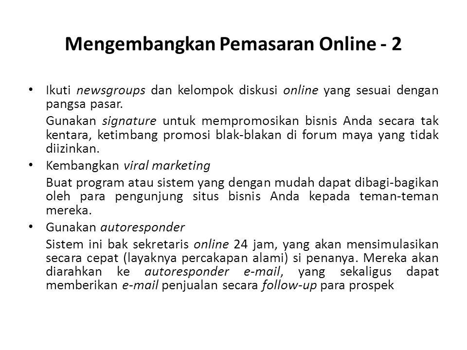Mengembangkan Pemasaran Online - 2