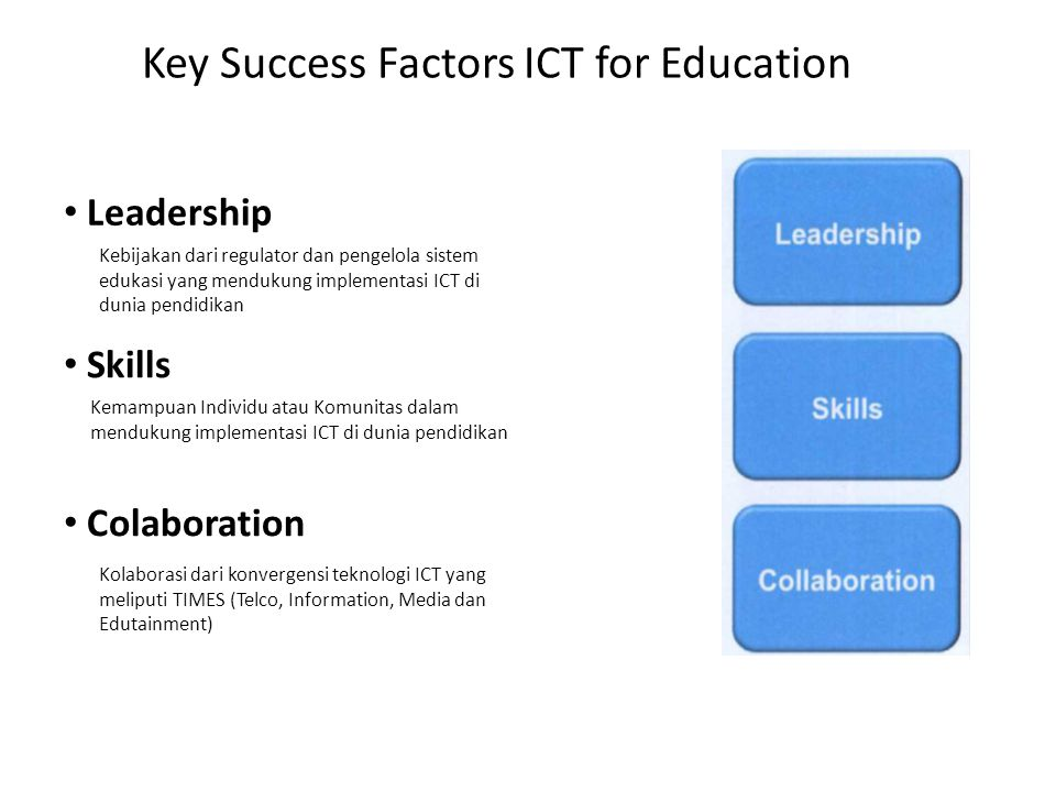 Key Success Factors ICT for Education