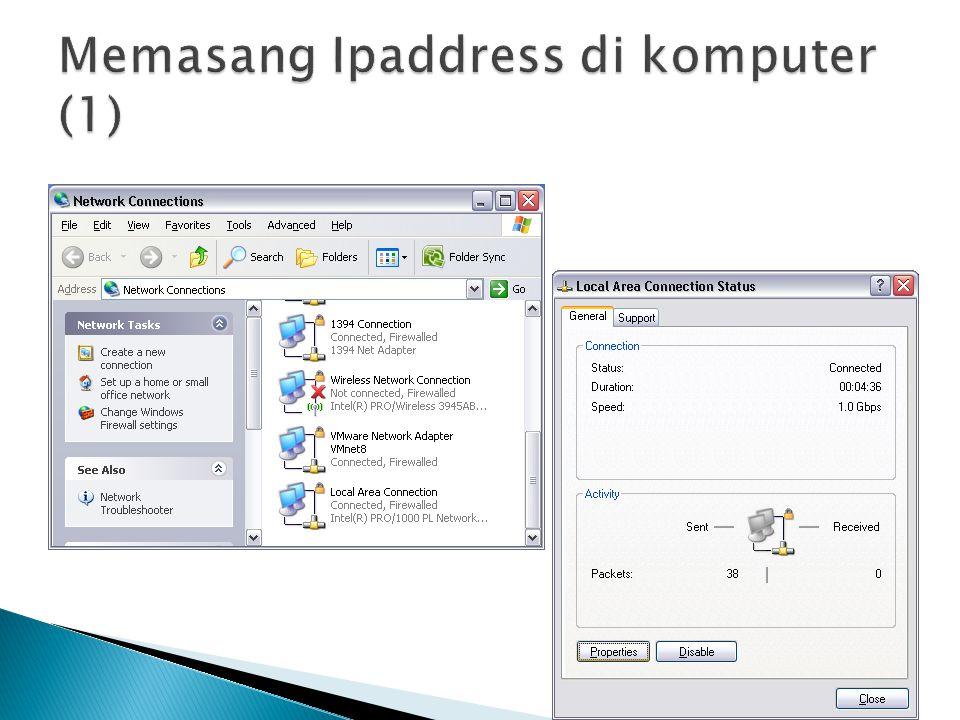 Memasang Ipaddress di komputer (1)