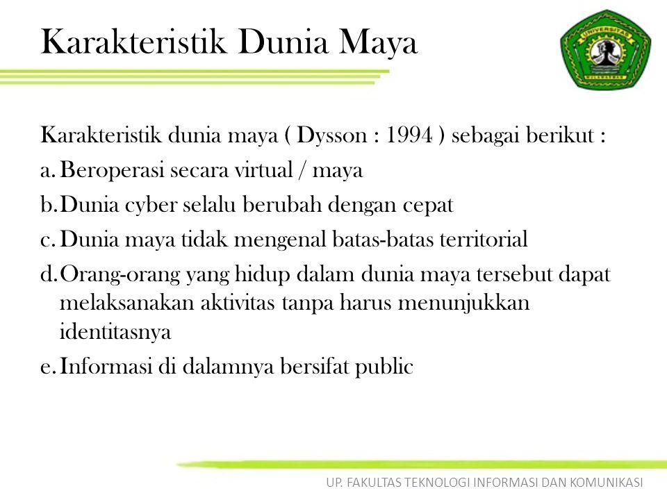 Karakteristik Dunia Maya