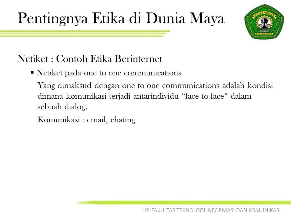Pentingnya Etika di Dunia Maya
