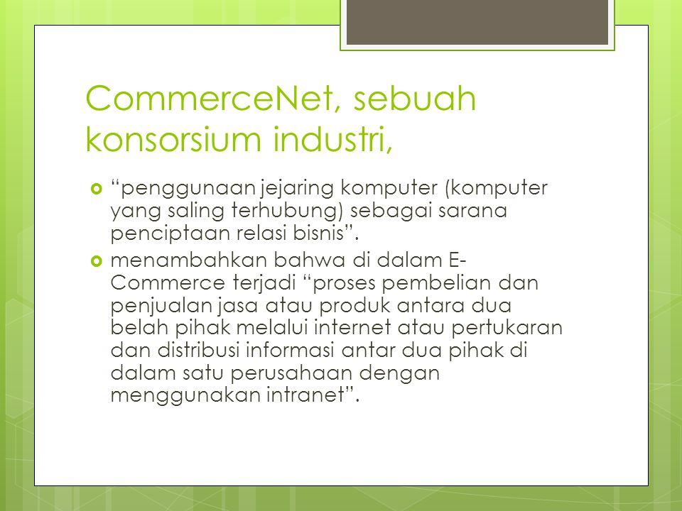 CommerceNet, sebuah konsorsium industri,