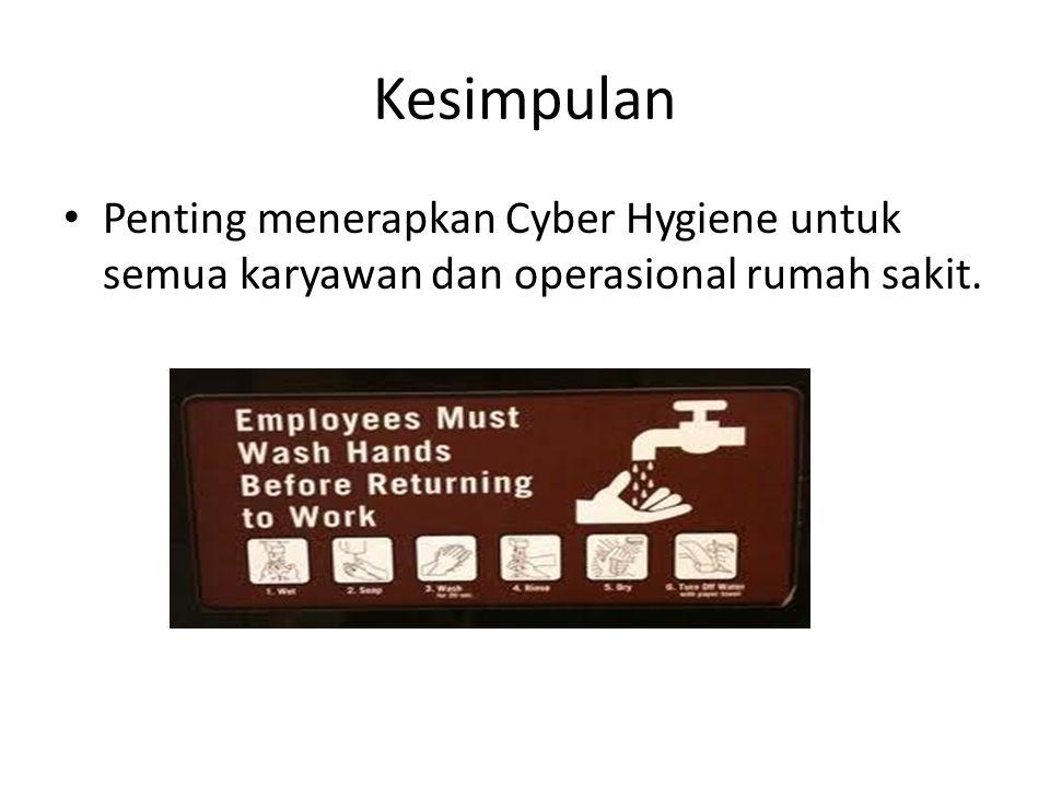 Kesimpulan Penting menerapkan Cyber Hygiene untuk semua karyawan dan operasional rumah sakit.