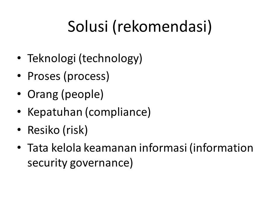 Solusi (rekomendasi) Teknologi (technology) Proses (process)