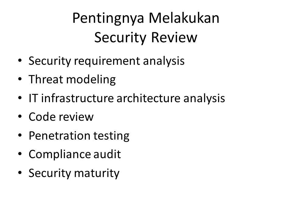 Pentingnya Melakukan Security Review