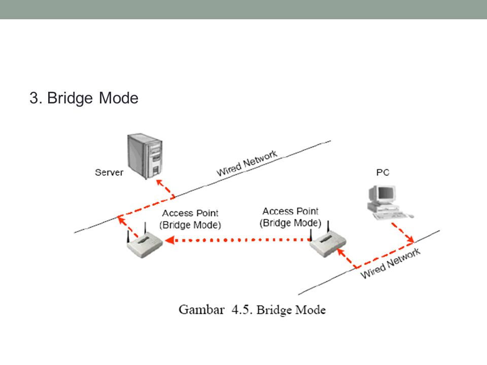 3. Bridge Mode