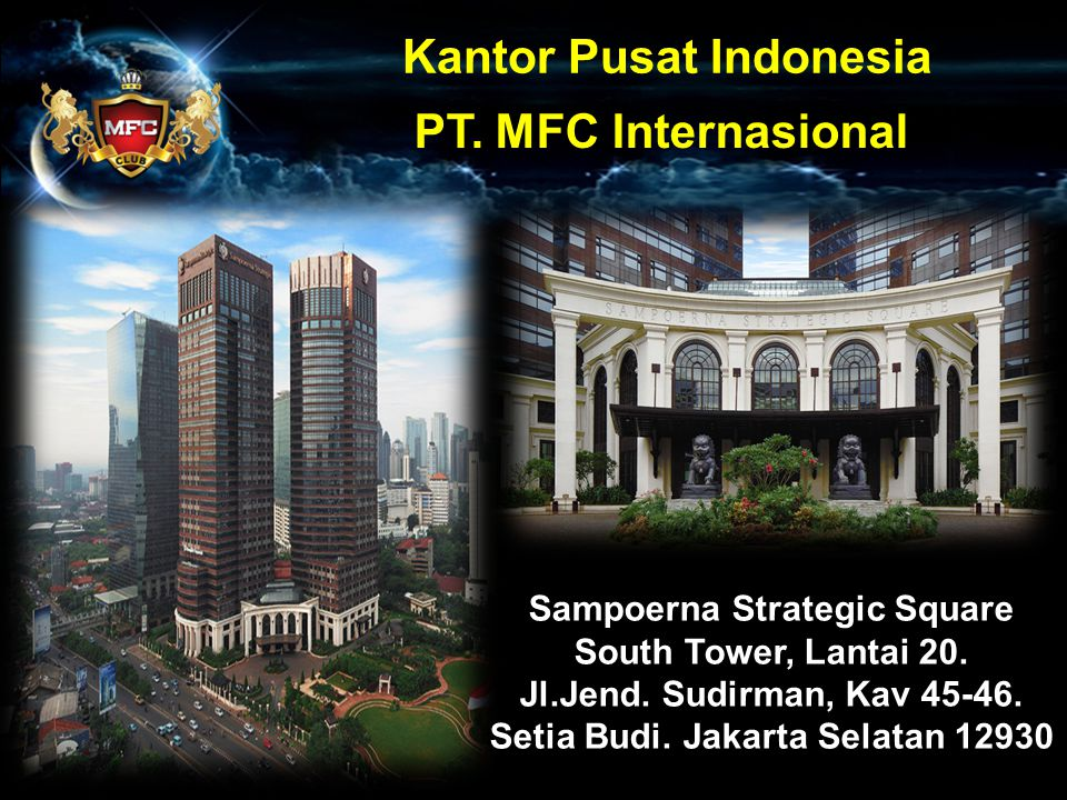 Kantor Pusat Indonesia PT. MFC Internasional