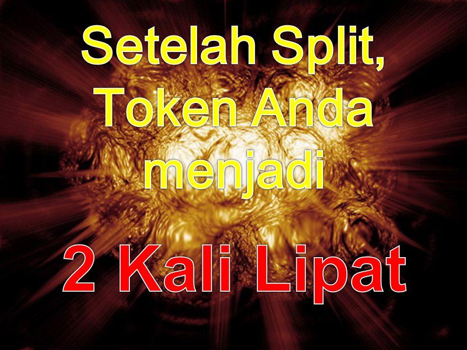 Setelah Split, Token Anda menjadi 2 Kali Lipat