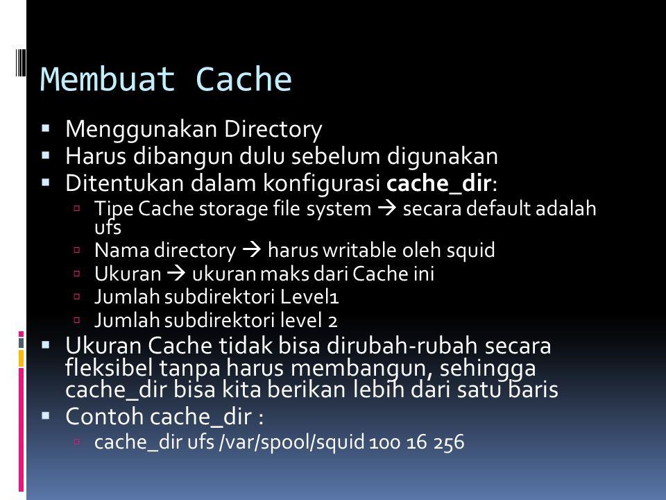 Membuat Cache Menggunakan Directory