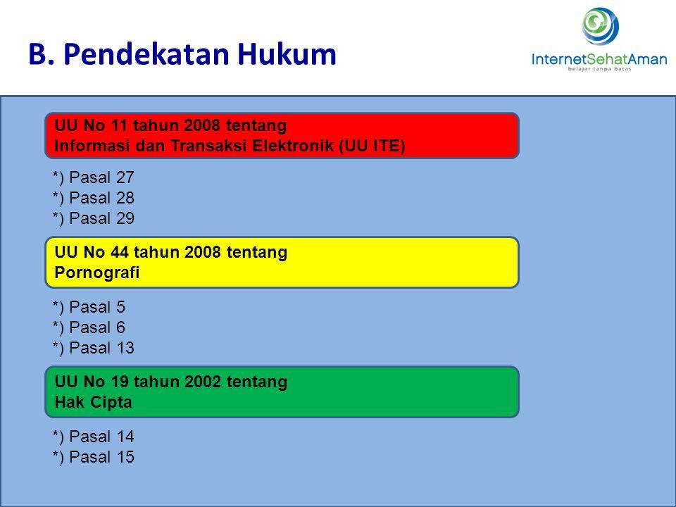 B. Pendekatan Hukum 3434 UU No 11 tahun 2008 tentang