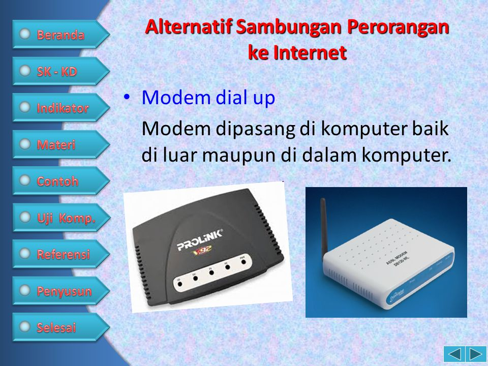 Alternatif Sambungan Perorangan ke Internet